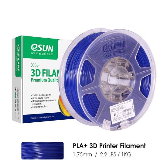 1.75mm blue PLA+ filament