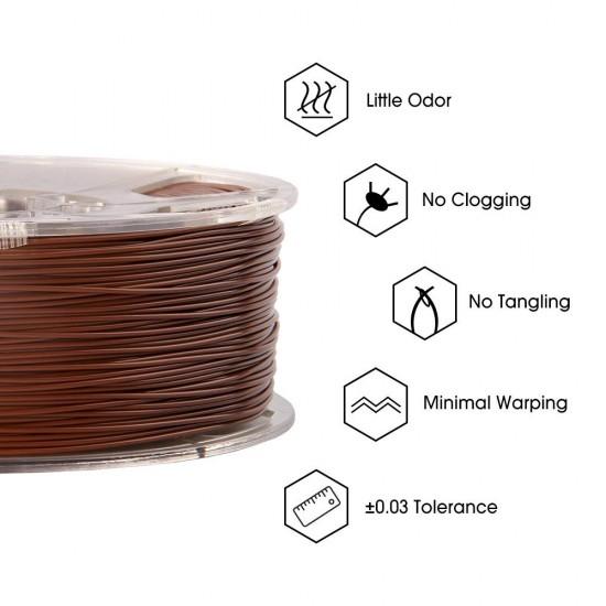1.75mm brown PLA+ filament