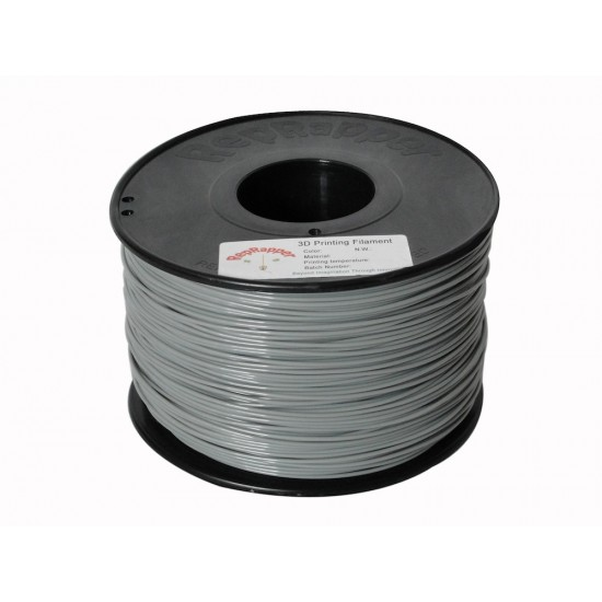 1.75mm shiny grey ABS filament