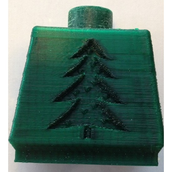 1.75mm christmas green ABS filament