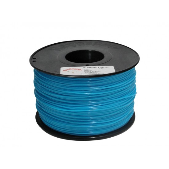 1.75mm glow in the dark blue ABS filament
