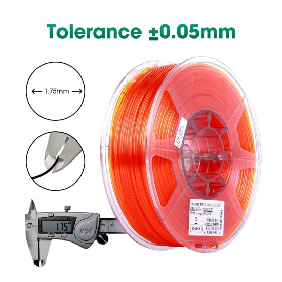 1.75mm oranje PETG filament