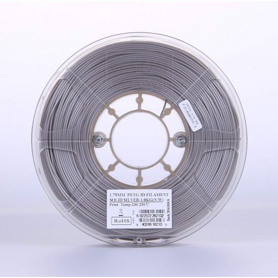 1.75mm solid silver petg filament