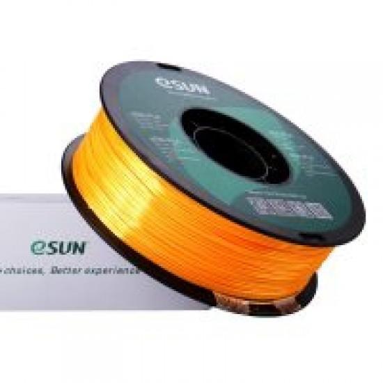 1.75mm dark yellow eSilk PLA filament