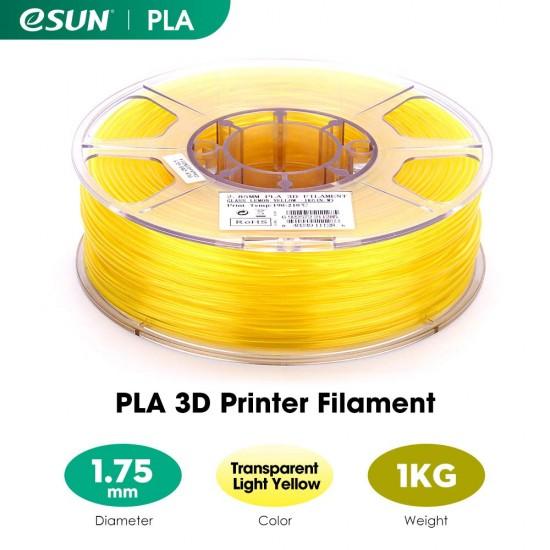 1.75mm transparent yellow PLA filament