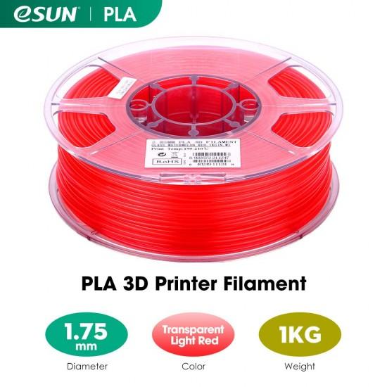 1.75mm transparent red PLA filament