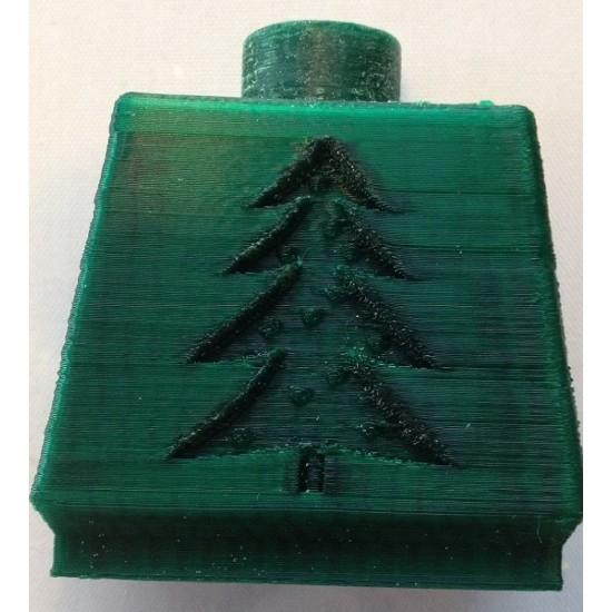 1.75mm christmas green PLA filament