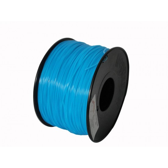 1.75mm glow in the dark blue PLA filament