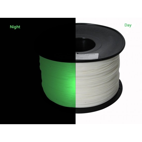 1.75mm glow in the dark green PLA filament