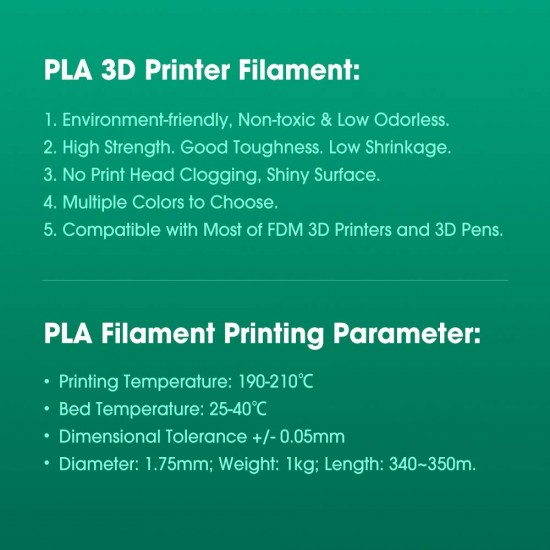 1.75mm transparant rood PLA filament