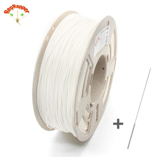 1.75mm white PLA filament