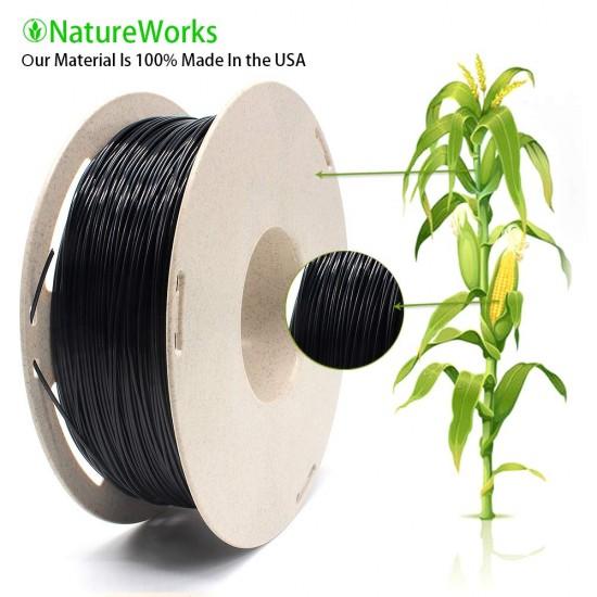 1.75mm black PLA filament