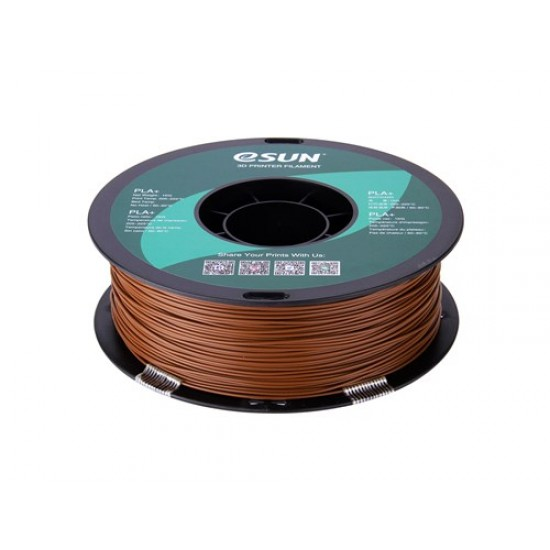 1.75mm bruin PLA+ filament