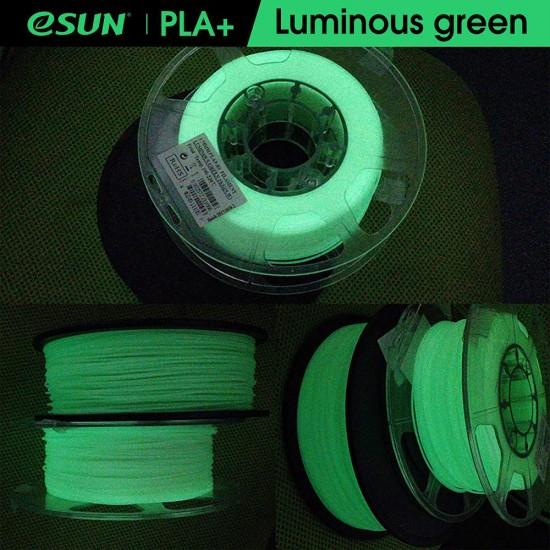 1.75mm oplichtend groen PLA+ filament