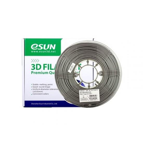 1.75mm zilver ABS filament  eSun 0,5Kg