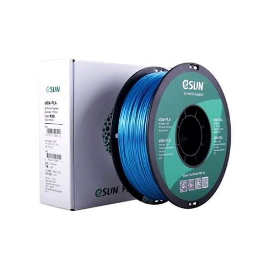 1.75mm cyan eSilk PLA filament
