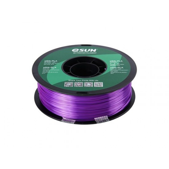1.75mm purple eSilk PLA filament