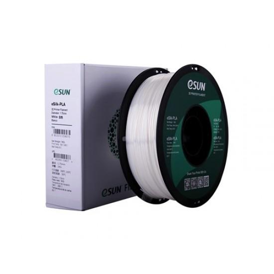 1.75mm white eSilk PLA filament
