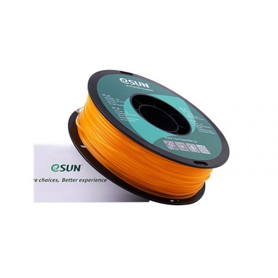 1.75mm transparant  oranje PLA filament