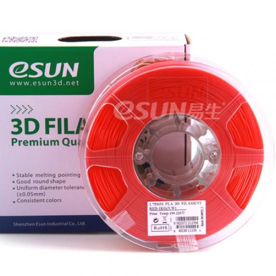 1.75mm red PLA filament