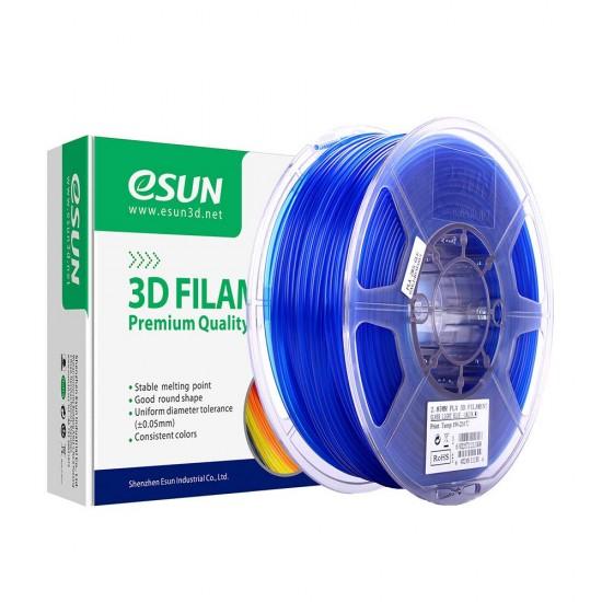 1.75mm transparant blauw PLA filament