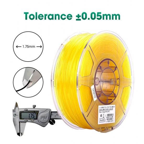 1.75mm transparant geel PLA filament