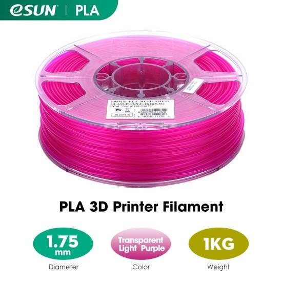 1.75mm transparant violet PLA filament