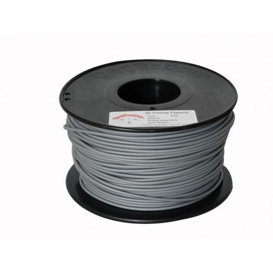 3.0mm shiny grey PLA filament