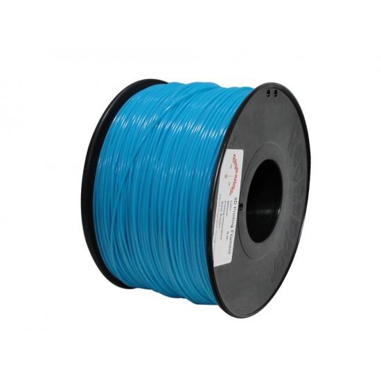 3.0mm glow in the dark blue PLA filament