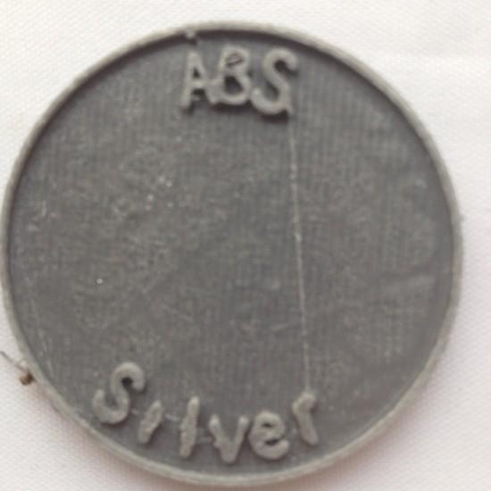 1.75mm glanzend grijs ABS filament