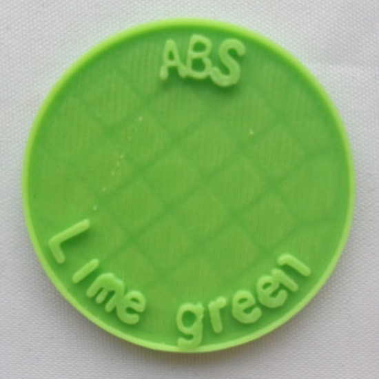 1.75mm lime green ABS filament