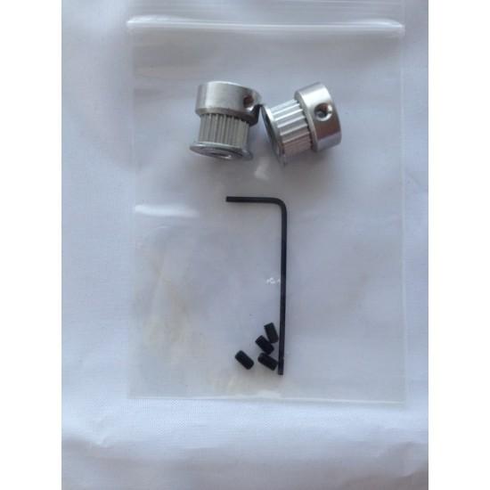 GT2 aluminium pulley 20 teeth 2 pieces