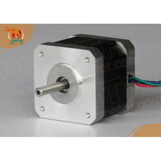 NEMA 17 steppermotor 0.9 degrees, 1.7A